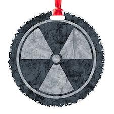 Distressed Gray Radiation Symbol Ornament