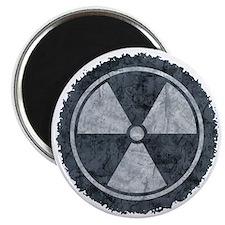 Distressed Gray Radiation Symbol Magnet