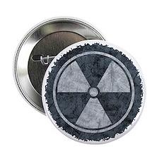 "Distressed Gray Radiation Symbol 2.25"" Button"