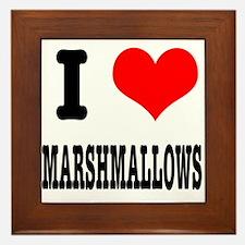 I Heart (Love) Marshmallows Framed Tile