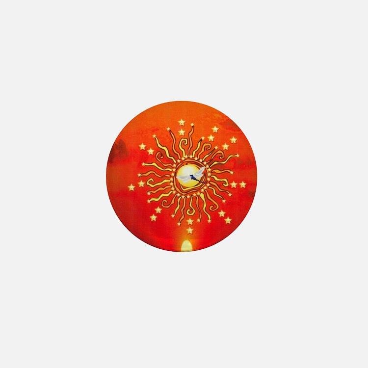 Shaman Sun Mini Button
