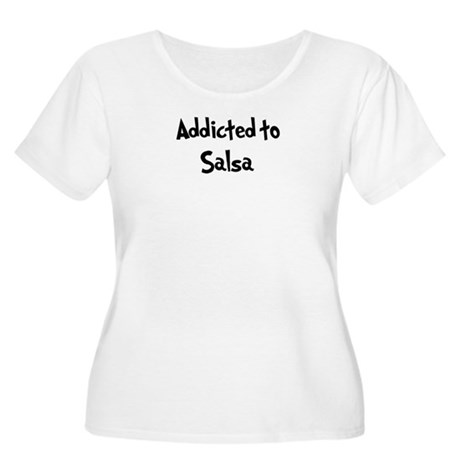 Addicted to Salsa Women's Plus Size Scoop Neck T-S