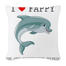I Heart Fappy, The Anti-Mastur Woven Throw Pillow