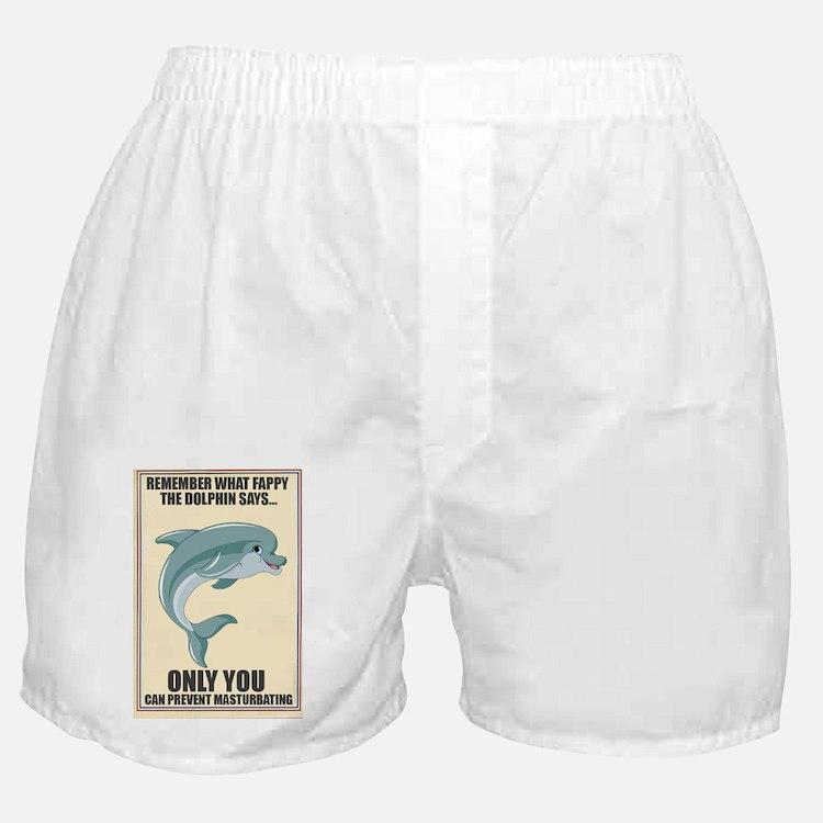 Fappy the Anti-Masturbation Dolphin Boxer Shorts