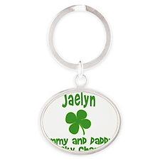 CharmMomDad_jaelyn Oval Keychain