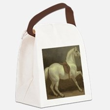 Beautiful White Horse Canvas Lunch Bag