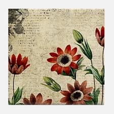 Anemone Flowers Tile Coaster