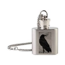 Crow Flask Necklace