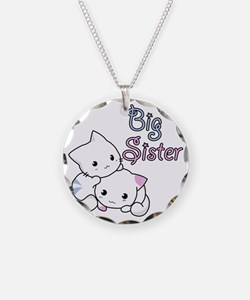 Cute Kitty Big Sister Necklace