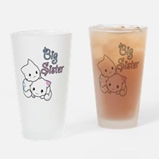 Cute Kitty Big Sister Drinking Glass