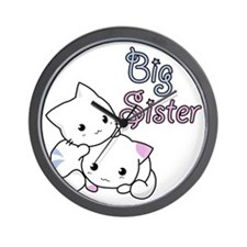 Cute Kitty Big Sister Wall Clock