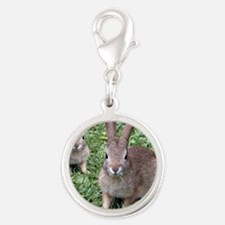 Seeing Double Silver Round Charm