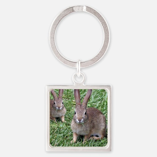 Seeing Double Square Keychain