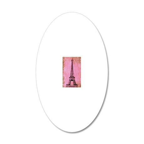 Eiffel Tower 20x12 Oval Wall Decal