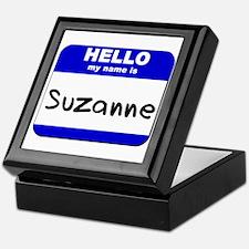 hello my name is suzanne Keepsake Box
