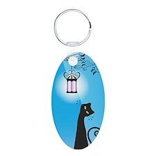 Whimsical Black Cat Keychains