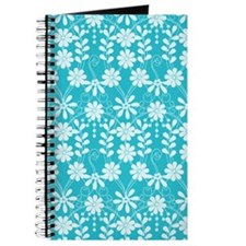 Aqua Flowers Journal