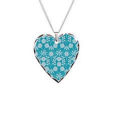 Aqua Flowers Necklace