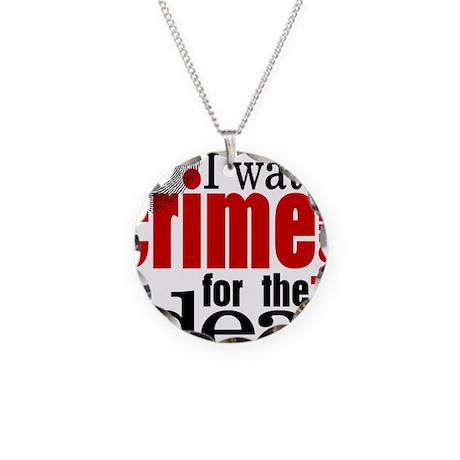 Crime Show Ideas Necklace Circle Charm