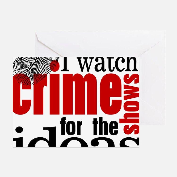 Crime Show Ideas Greeting Card