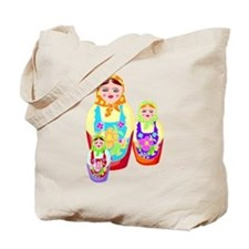 Russian Matryoshka Nesting Dolls Tote Bag