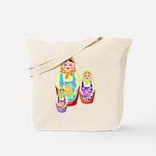 Russian Matryoshka Nesting Dolls Tote Bag