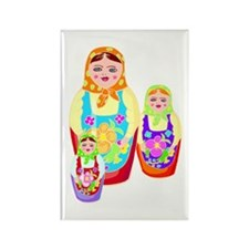 Russian Matryoshka Nesting Dolls Rectangle Magnet
