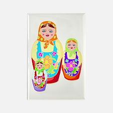 Russian Matryoshka Nesting Dolls Rectangle Magnet
