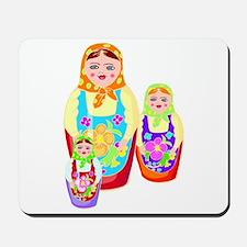 Russian Matryoshka Nesting Dolls Mousepad