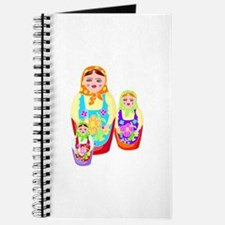 Russian Matryoshka Nesting Dolls Journal