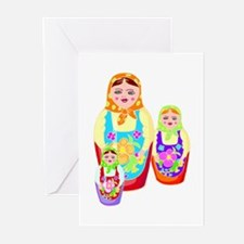 Russian Matryoshka Nesting Dolls Greeting Cards (P