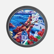 Greek Oil Painting Wall Clock