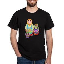Russian Matryoshka Nesting Dolls T-Shirt