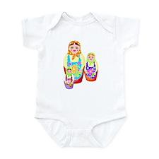 Russian Matryoshka Nesting Dolls Infant Bodysuit