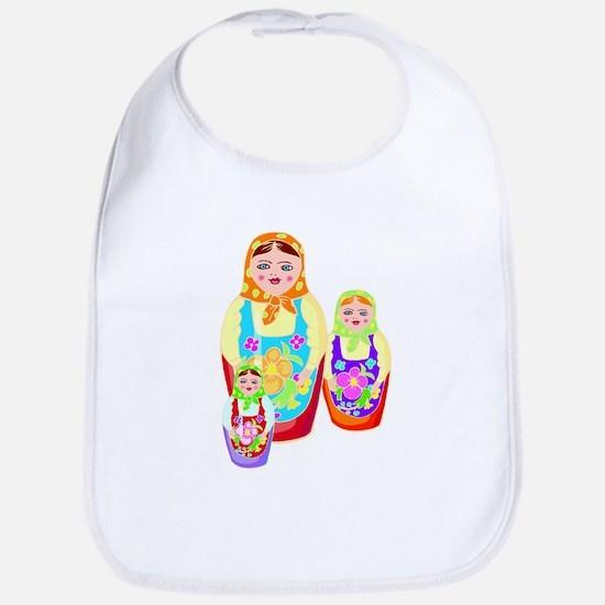 Russian Matryoshka Nesting Dolls Bib