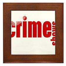 Crime Show Ideas Framed Tile