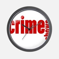 Crime Show Ideas Wall Clock