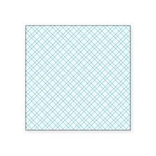 "Aqua Criss Cross Square Sticker 3"" x 3"""