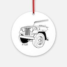 Jeepster Commando C101 Round Ornament