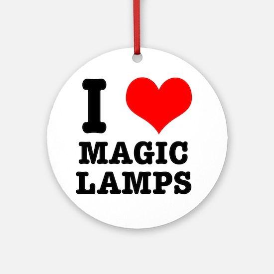 I Heart (Love) Magic Lamps Ornament (Round)