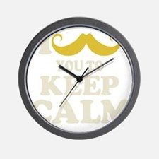 I Mustache You To Carry On Wall Clock