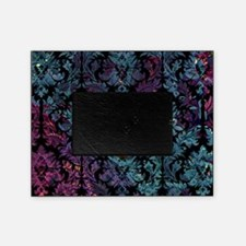 Damask pattern on purple and blue Picture Frame