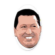 Chavez Saint - Stroke Oval Car Magnet