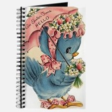 Vintage Easter Blue Bird Bonnet Journal