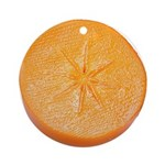 Slice of Persimmon Ornament (Round)