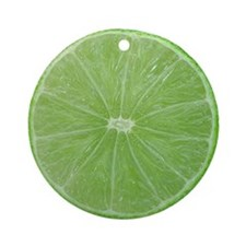 Slice of Lime Ornament (Round)