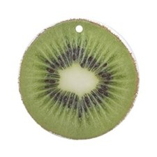Slice of Kiwi Fruit Ornament (Round)