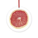 Slice of Grapefruit Ornament (Round)