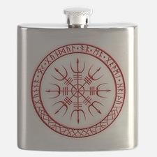 Aegishjalmur: Viking Protection Rune Flask
