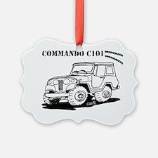 Jeepster Commando C101 cartoon Ornament